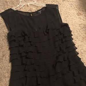 EXPRESS Black Ruffles Dress